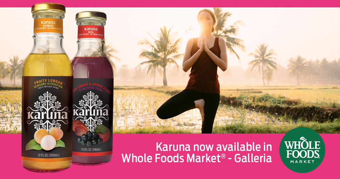 karuna beverages now available in Whole Foods Market - Galleria in Brentwood, MO
